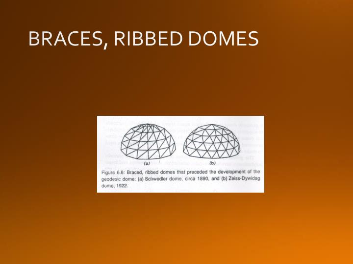 BRACES, RIBBED DOMES