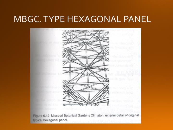 MBGC. TYPE HEXAGONAL PANEL