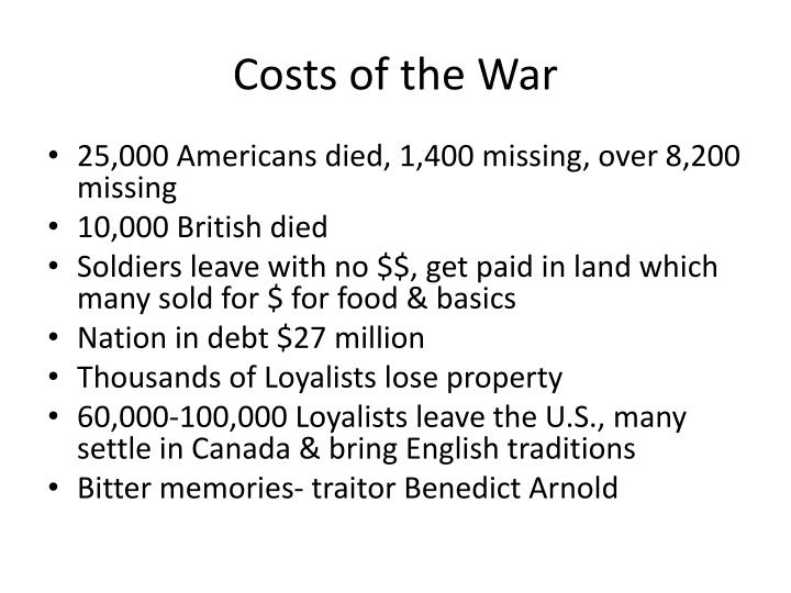 Costs of the War