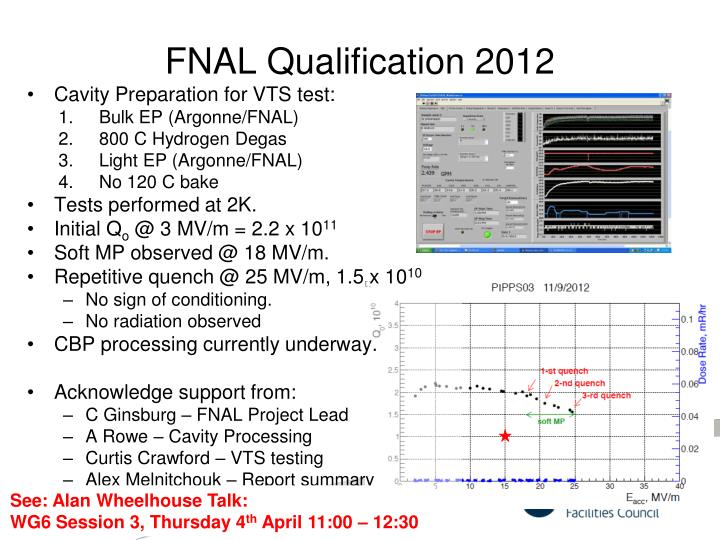 FNAL Qualification 2012
