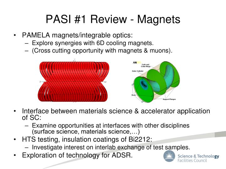 PASI #1 Review - Magnets