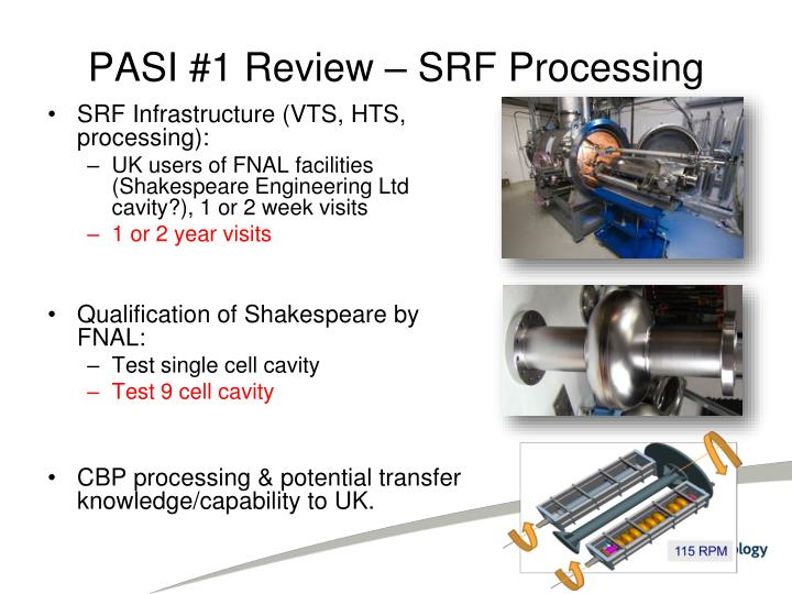Pasi 1 review srf processing