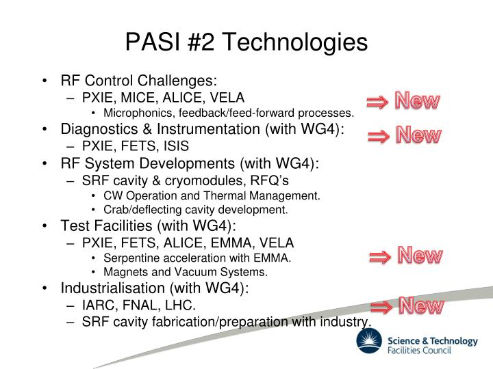 PASI #2 Technologies