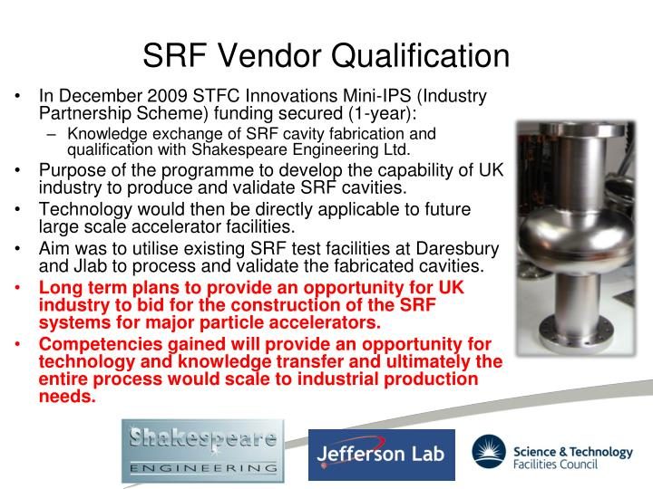 SRF Vendor Qualification