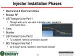 injector installation phases