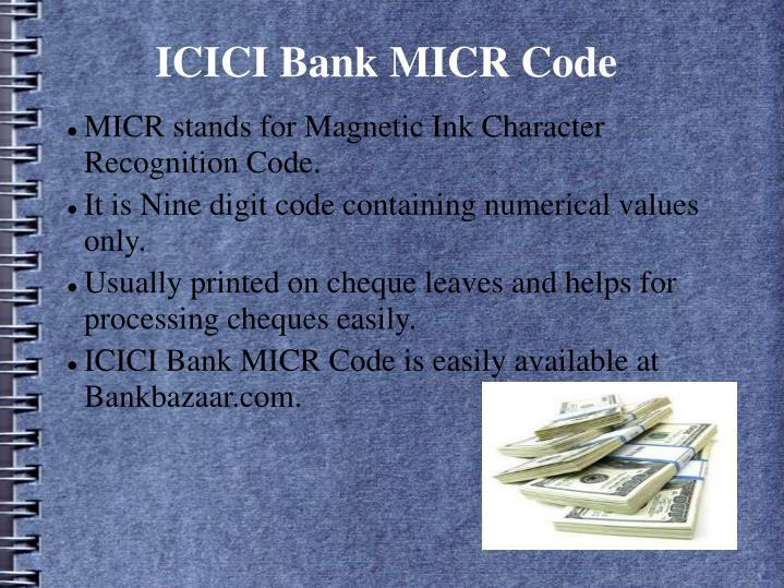 icici bank micr code mindspace branch