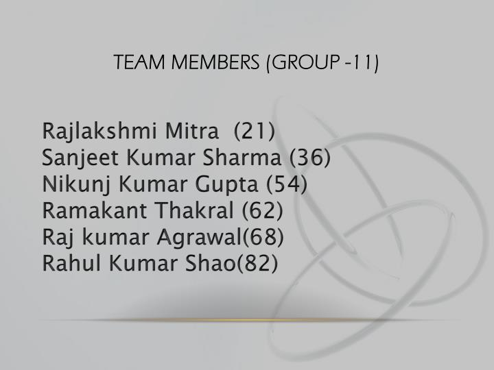 Team members group 11