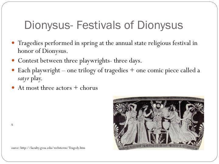 Dionysus- Festivals of Dionysus