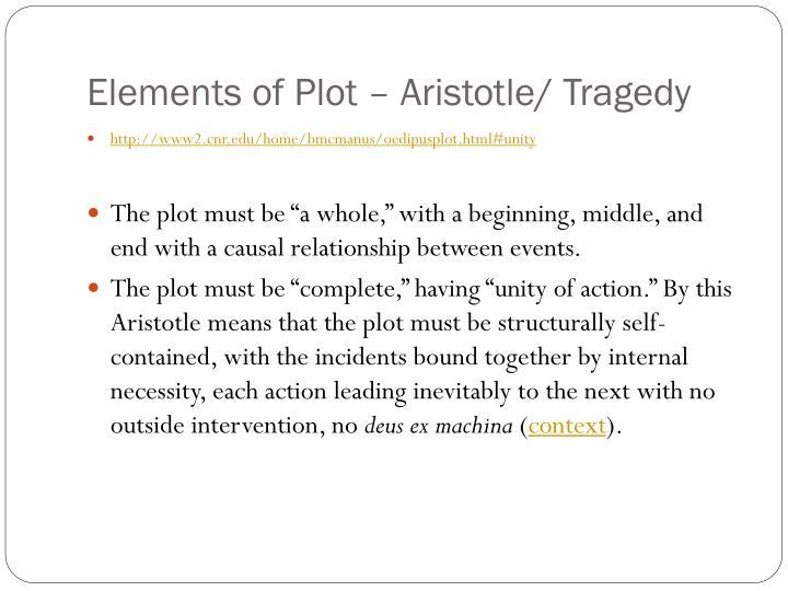 Elements of Plot – Aristotle/ Tragedy