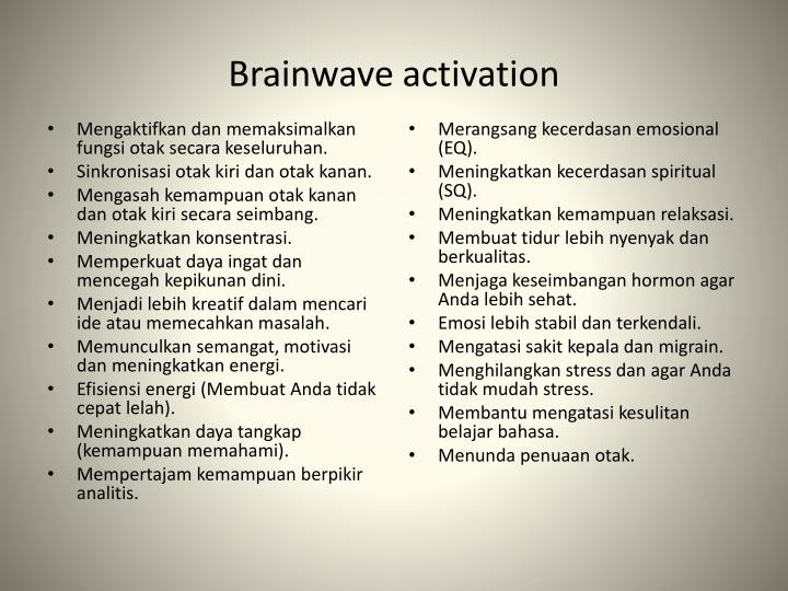 Brainwave activation