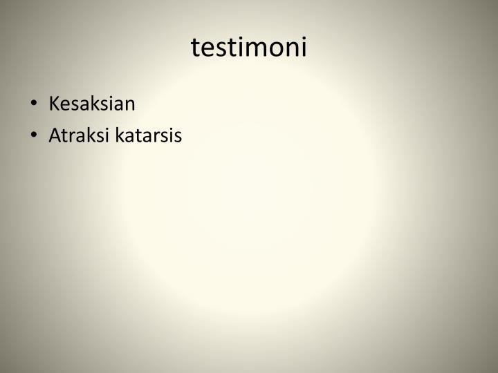 testimoni