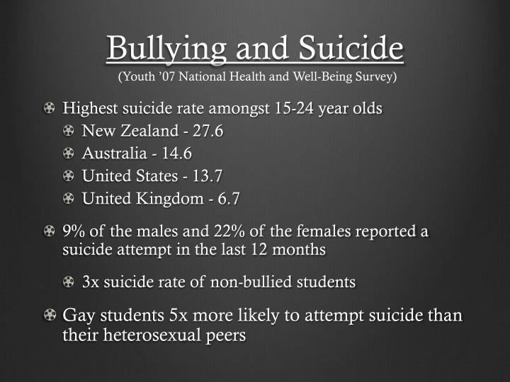 Bullying and Suicide