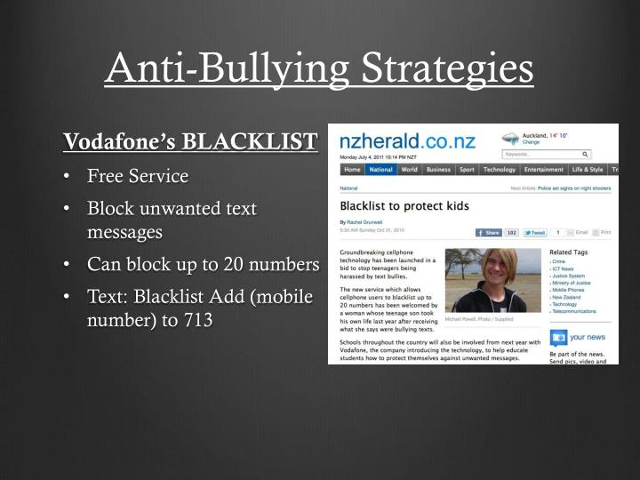 Anti-Bullying Strategies