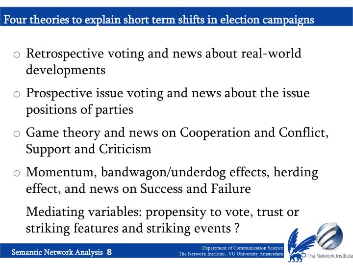 Four theories to explain short term shifts in election campaigns