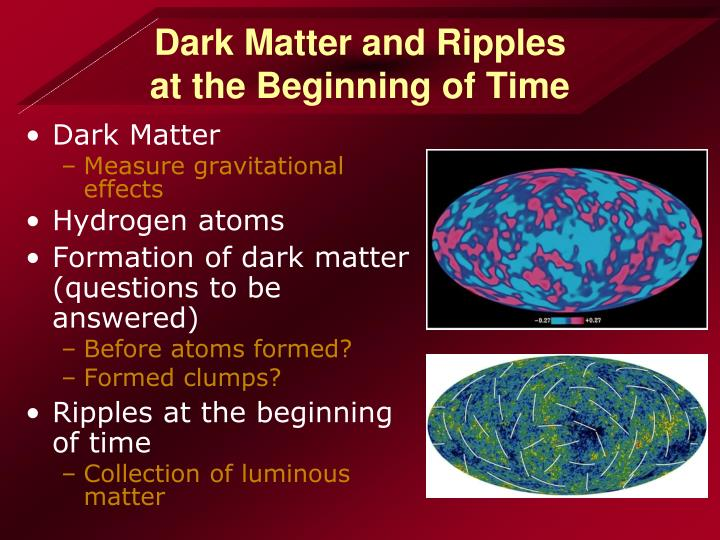 Dark Matter and Ripples
