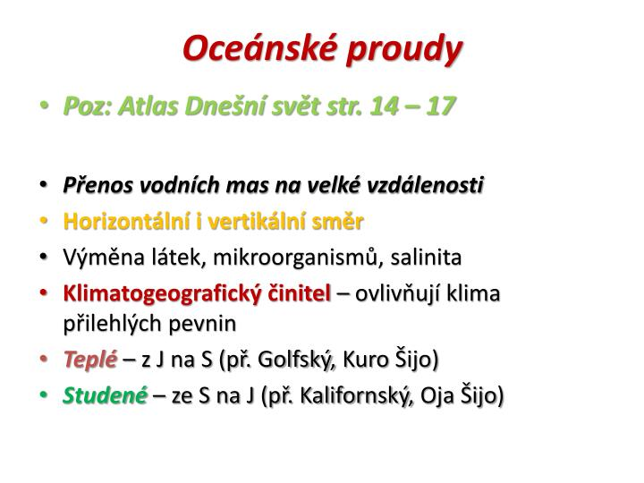 Ocensk proudy