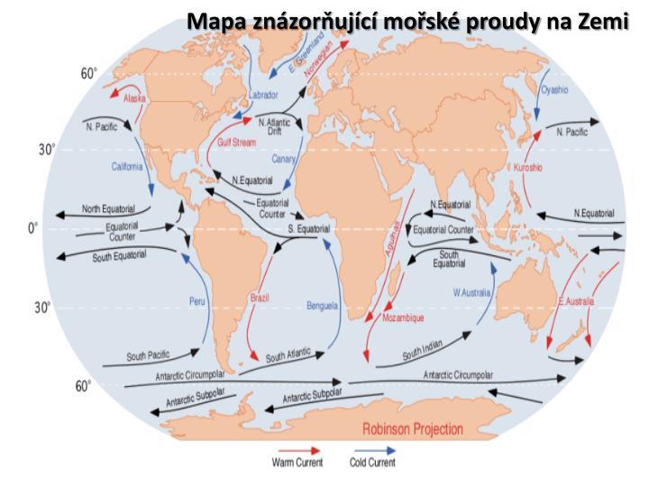 Mapa znzorujc mosk proudy