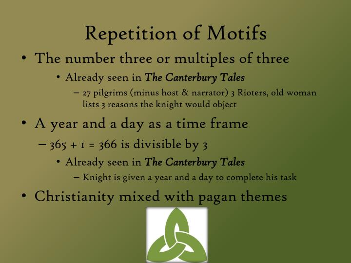 Repetition of Motifs