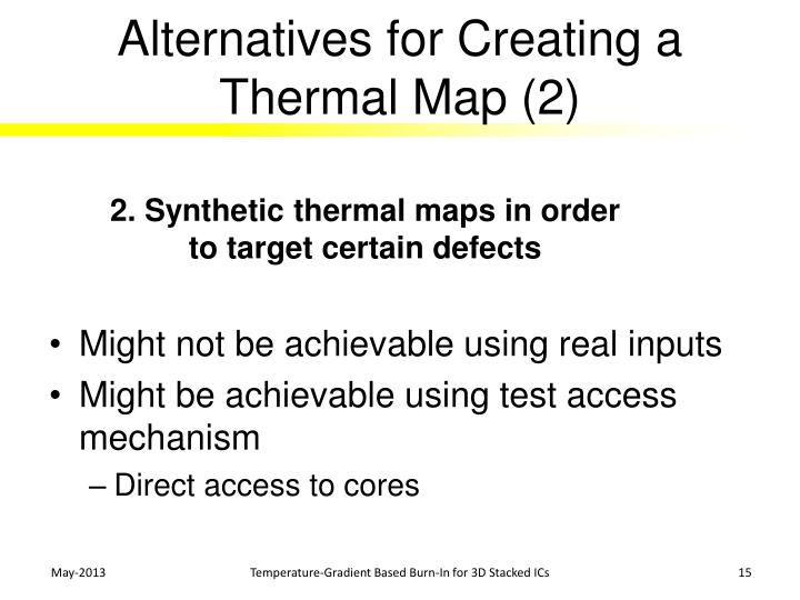Alternatives for Creating a Thermal Map (2)
