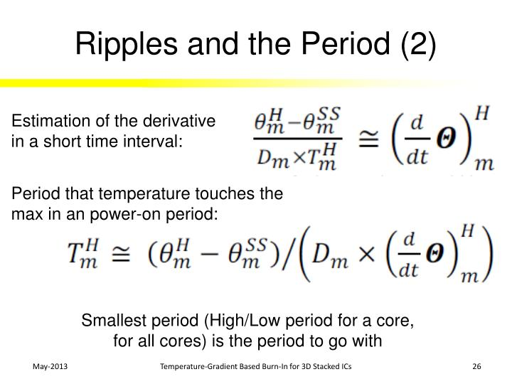 Ripples and the Period (2)