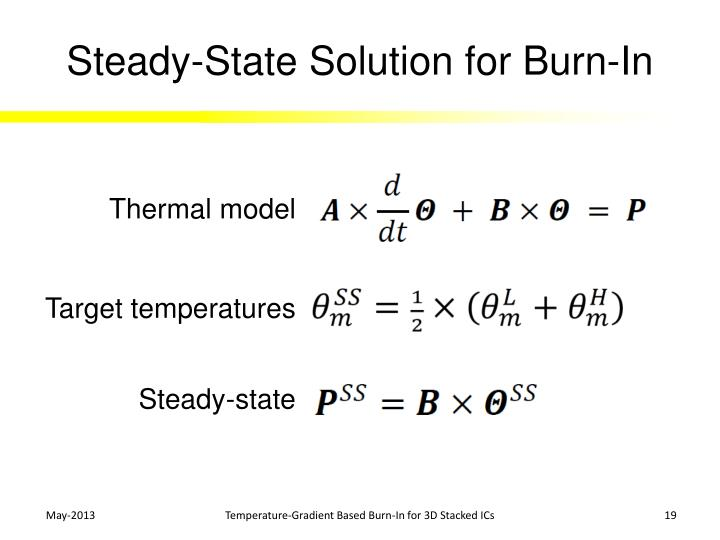 Steady-State Solution for Burn-In