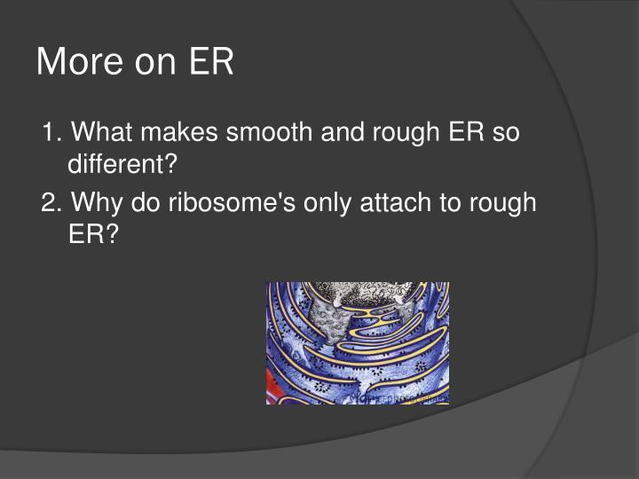 More on ER