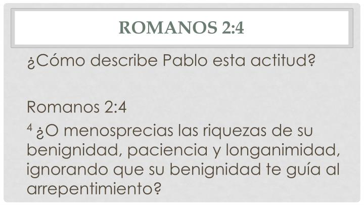 Romanos 2:4