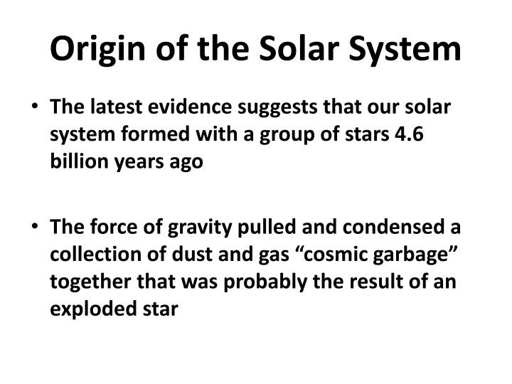 PPT - The Solar System Chapter 8 PowerPoint Presentation ...