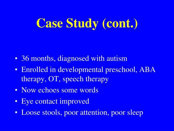 Case Study (cont.)