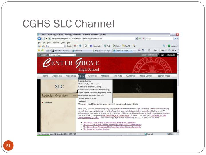 CGHS SLC Channel