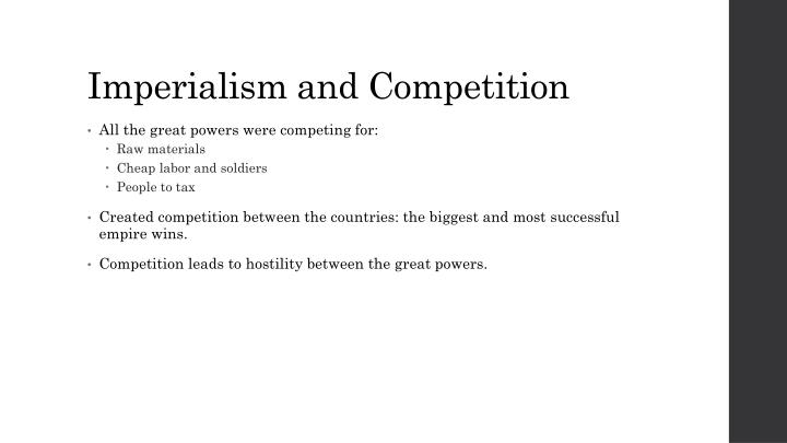 Imperialism and Competition