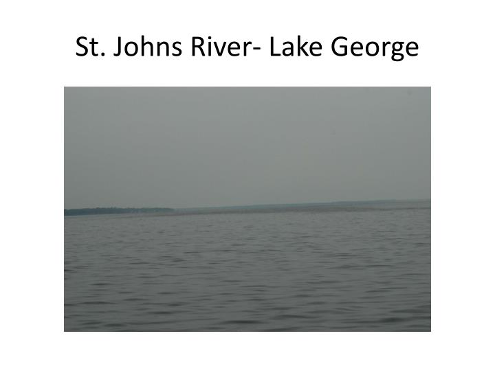 St. Johns River- Lake George