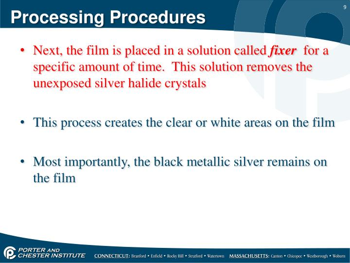 Processing Procedures