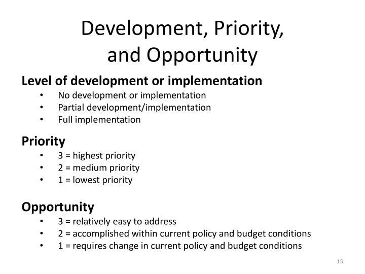 Development,