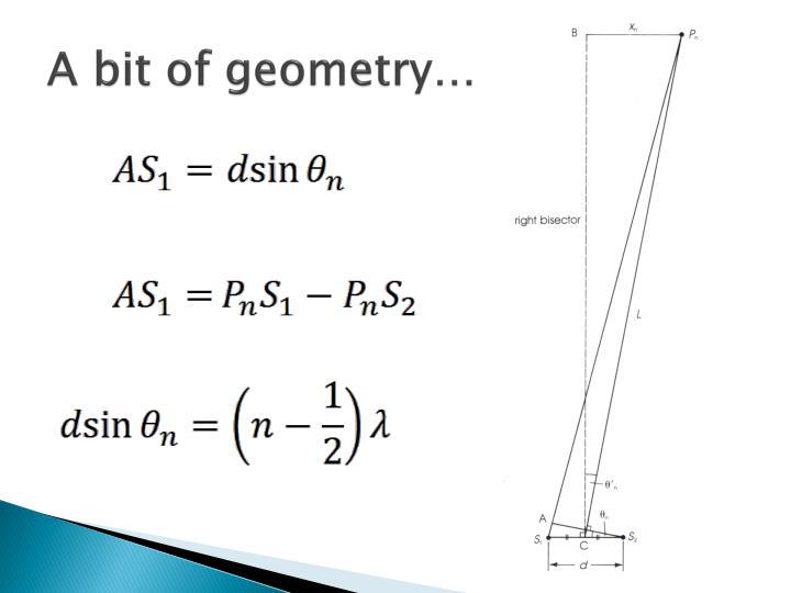 A bit of geometry…