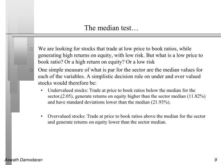 The median test…