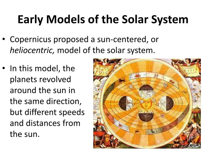 Early Models of the Solar System
