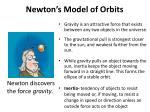 newton s model of orbits