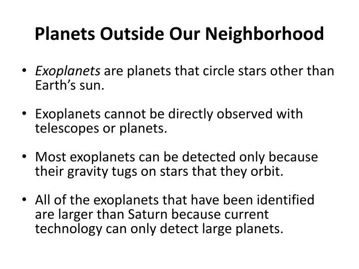Planets Outside