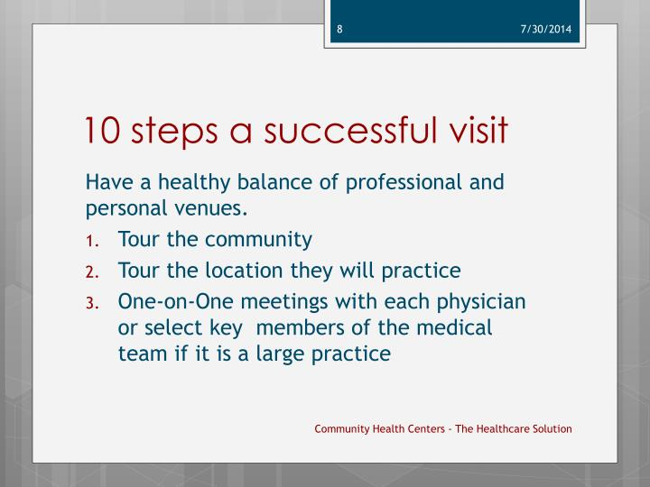 10 steps a successful visit
