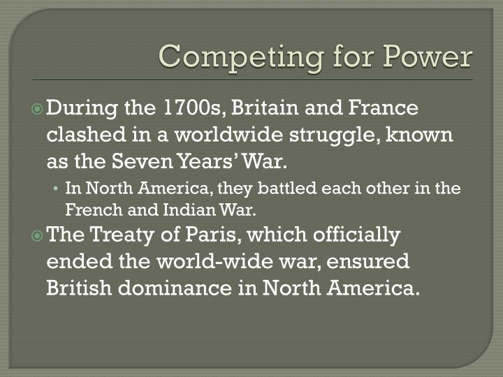 Competing for Power