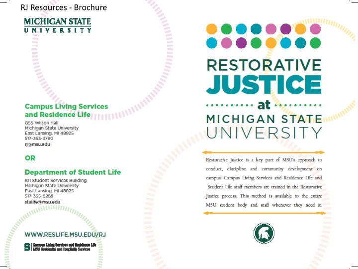 RJ Resources - Brochure