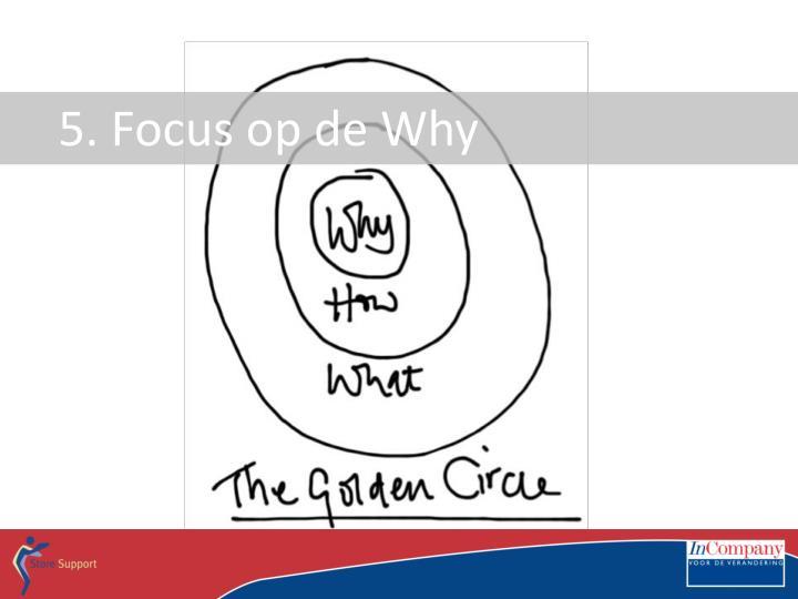 5. Focus op de Why