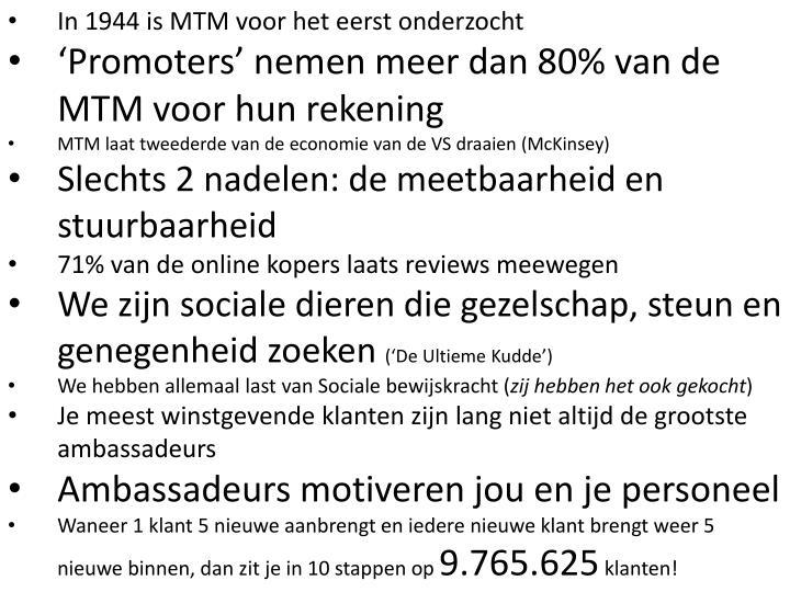 In 1944 is MTM