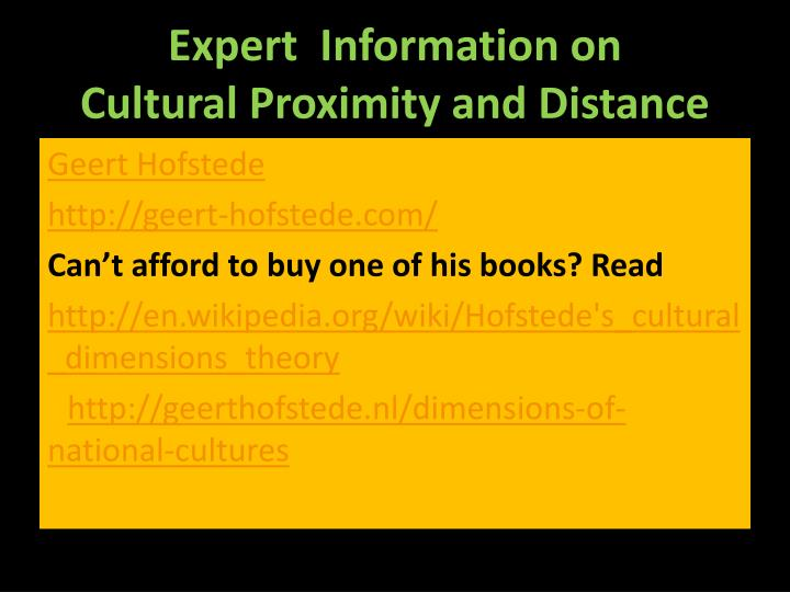 Expert  Information on