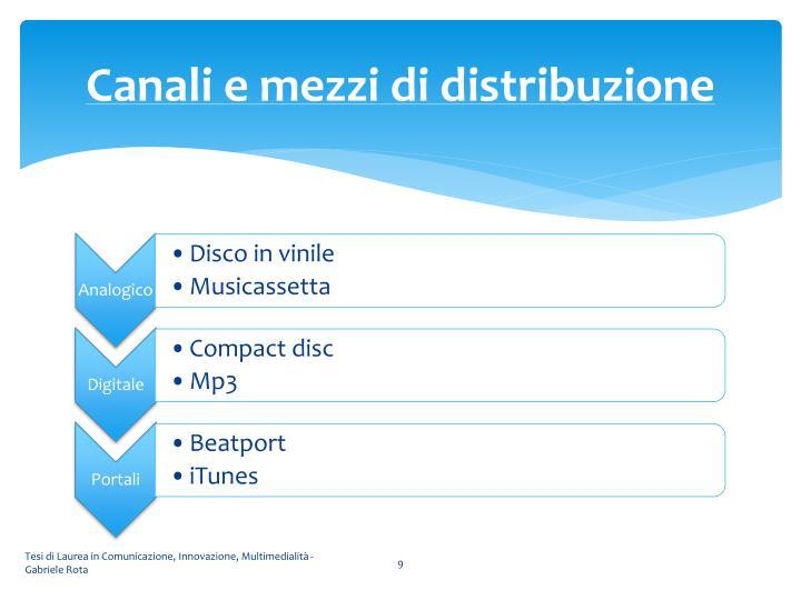 Canali e mezzi di distribuzione