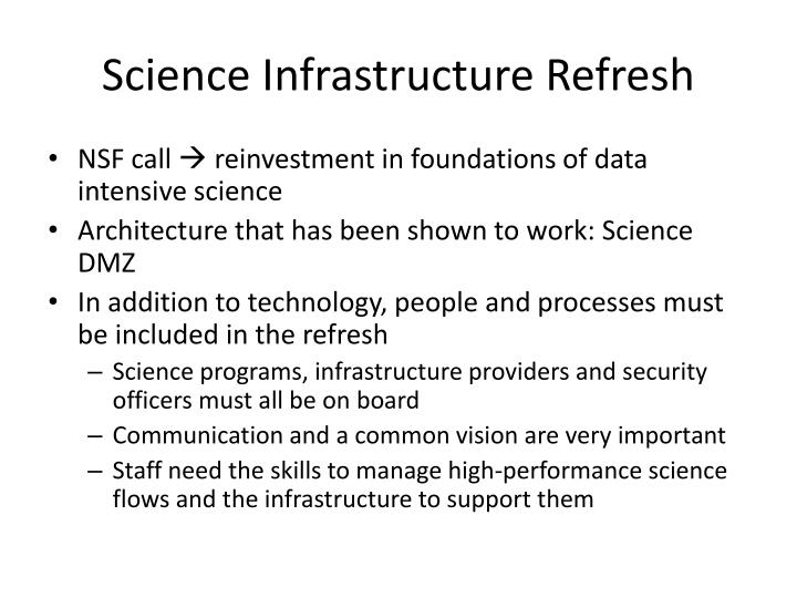 Science Infrastructure Refresh