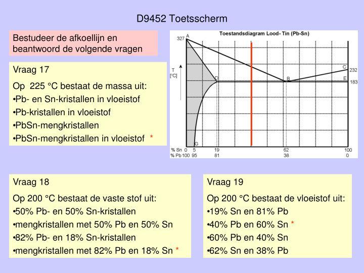 D9452 Toetsscherm