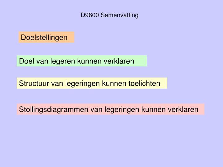 D9600 Samenvatting