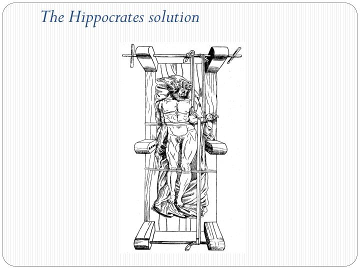 The Hippocrates solution